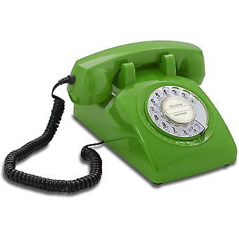 Wokex Opis 60er Jahre Kabel mit klassischem Deutschen Post Pappeinleger: Retro Telefon im sechziger Jahr