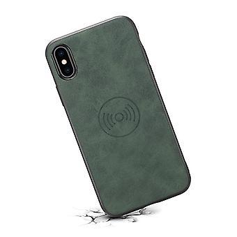 حقيبة جلدية مع فتحة بطاقة محفظة ل Huawei mate20pro باللون الأخضر الرجعي