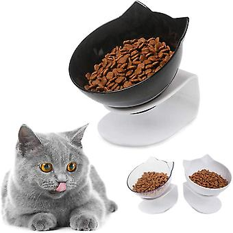 Futternäpfe Katzenfutter,15 ° Kippbare katzennäpfe Doppelter Futternäpfe Katzenfutter Transparente