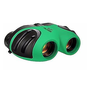 Zielona kompaktowa lornetka odporna na wstrząsy dla dzieci x4260