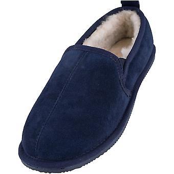 رجال جلد الغنم اصطف أحذية شبشب مع الصلب ارتداء الوحيد
