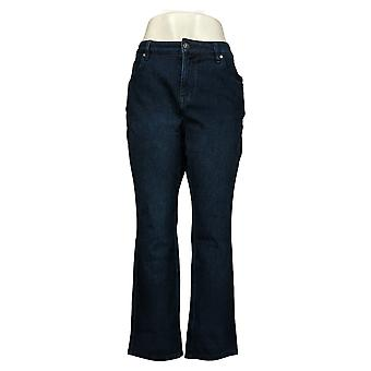 Belle af Kim Gravel Women's Petite Jeans Flexibelle Straight Blue A355048