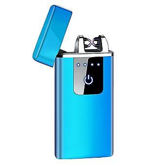 חדש hb-021-קרח כחול אופנה כפולה קשת אלקטרונית מגע חכם קל USB אינדוקציה נטענת sm41905