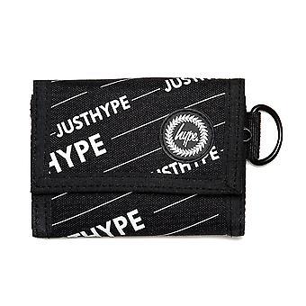 Hype Black Logo Trifold Wallet Money Purse Black/White