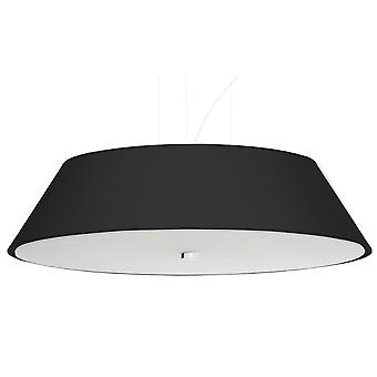 Sollux VEGA SL.0766 Cilindrische Hanglamp Zwart 60cm E27