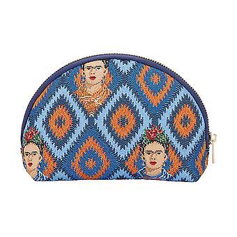 فريدا خالو رمز حقيبة مستحضرات التجميل | | حالة ماكياج الأزرق كوزم-فكيبون