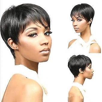 Short Headset Cover Bobo Wig For Women(Black)