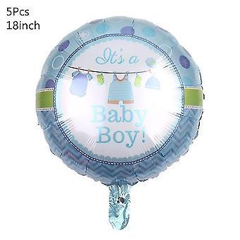 Juhlan tarvikepakkaukset vauva / suihku ilmapallot 1-vuotissyntymäpäiväjuhlien koristeisiin