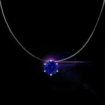 Invisible Fishing Line Crystal Pendant Necklace