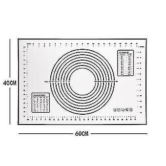 Большой силиконовый коврик для выпечки Extra Thick Non Stick Baking Mat с измерением Помадный коврик, , Тесто