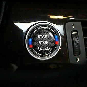 Autocollant en fibre de carbone Moteur de voiture Start Stop Button Switch Cover pour BMW X1 X3 X5