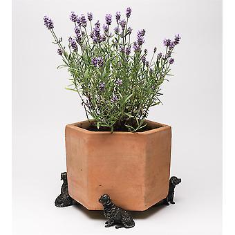 Potty Feet Decorative Retriever Themed Plant Pot Feet Bronze Color - Set of 3