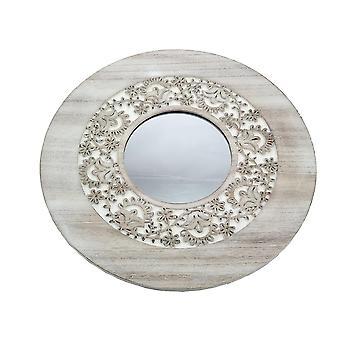 Spegel Rund trä 39 cm
