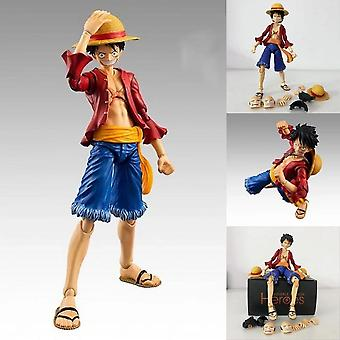 Hywell One Piece One Piece Movable Straw Hat Luffy Figure