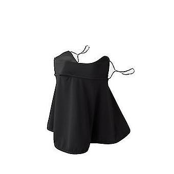 Outdoor Sonnencreme Gesichtsmaske Frauen UV-Schutz Hals und Hals Dünner Golf Eis Seidenschleier (schwarz)