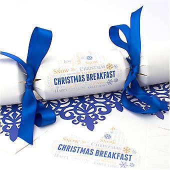 10 große Weihnachtsfrühstückscracker - Machen und füllen Sie Ihr eigenes Kit ohne Bänder