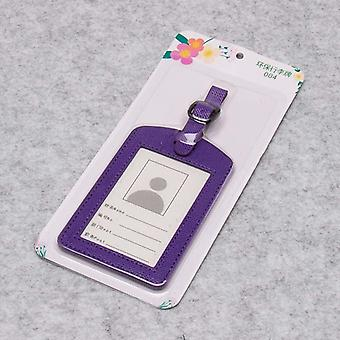 Pu Leather Suitcase Luggage Tag Label Bag