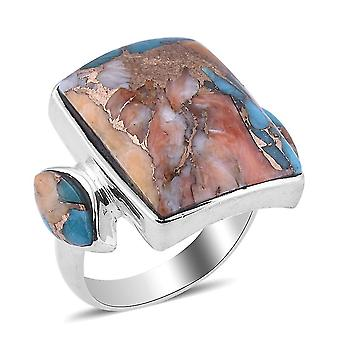 TJC Spiny Turquoise Engagement Solitaire Ring for Women 925 Sterling Silver 5ct(R)