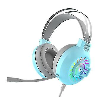RGB LED Gaming Headphone For PC Mac Nintendo Switch Laptop PS4 Xbox One(Blue)