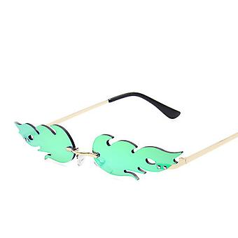 Sunglasses Rimless Wave Glasses Fire Shape Glasses Eyewear For Party