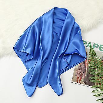 35in satiini pää huivit suuri vintage neliö huivi silkki tunne satiini kuninkaallinen sininen