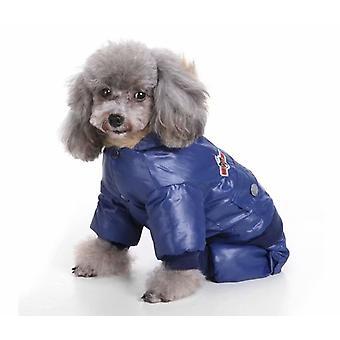 Pet Dog Clothes Dog Clothes Down Jacket Air Force Clothes Pet Dog Clothes Four Legged Clothes Air Force Clothes Pet Clothes Winter Clothes (blue S)