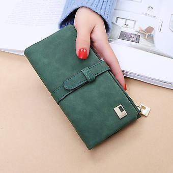 2020 Neue Mode Frauen Geldbörsen Kordelzug Nubuk Leder Reißverschluss Brieftasche Damen Lange Design Geldbörse Zweifach Mehr Farbe Clutch