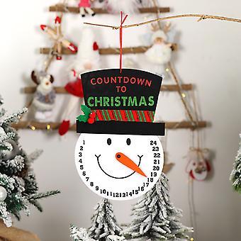 Santa Countdown Wall Calendar Navidad Creativo Muñeco de nieve Dibujos animados Impresión no tejida Calendario Decoración