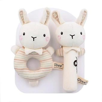 Caraele Cotton Round Rattle Stick, Baby Infant Rattle Soothing Toy
