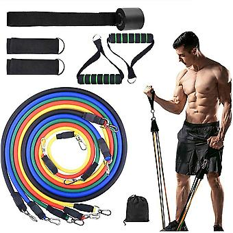 11 Pc Bandes de résistance Set Pull Rope Gym Home Fitness Workout Crossfit Yogatube