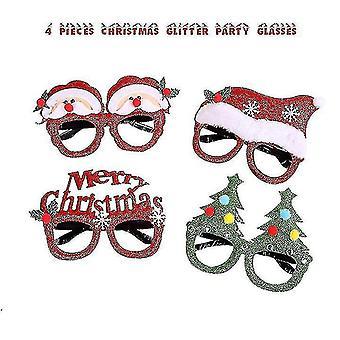 4 db karácsonyi szemüveg keret és fejpántok aranyos haj karika dekoráció kiegészítők ajándékok at xmas party
