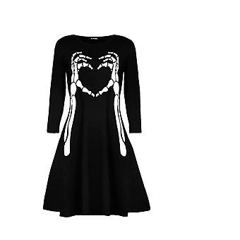 Fashion Star Womens Halloween Butterfly Skull Swing Dress