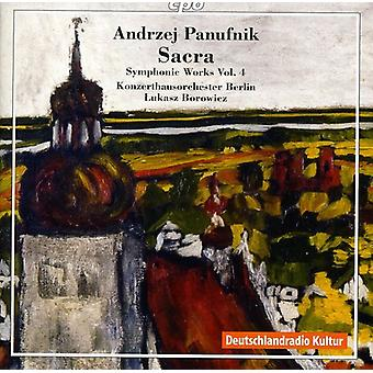 A. Panufnik - Andrzej Panufnik: Sacra: importation USA symphonique Works Vol. 4 [CD]