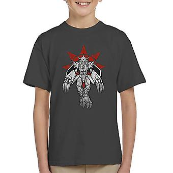 Digimon Wargreymon Grafitti Crest Of Courage Kid's T-Shirt