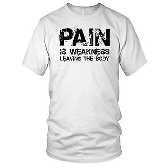 Pain Is Weakness Leaving The Body Fitness Gym Training Bodybuilding Ladies T Shirt