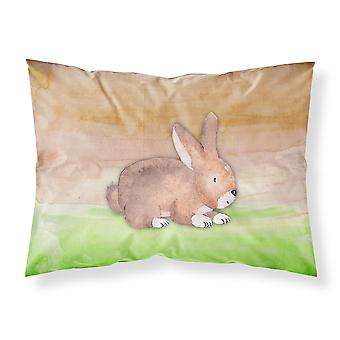 Rabbit Watercolor Fabric Standard Pillowcase