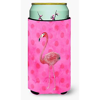 Flamingo Pink Polkadot Tall Boy Getränk Isolator Hugger