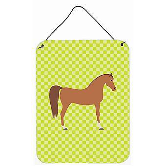 Cheval arabe vert mur ou porte accrocher impressions