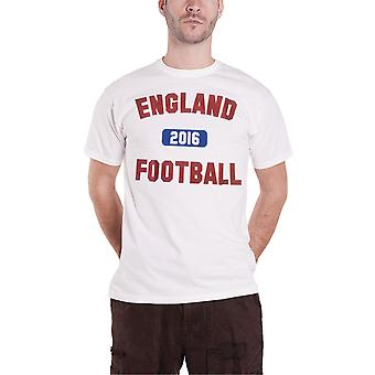 Official England Football T Shirt Football logo Vintage Euro new Mens White