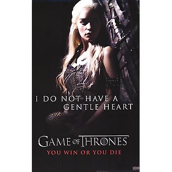 Game of Thrones - Khaleesi Daenerys Targaryen - Gentle Heart Poster Poster Print