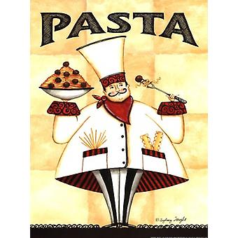 Chef Pasta Poster Print by Sydney Wright (12 x 16)