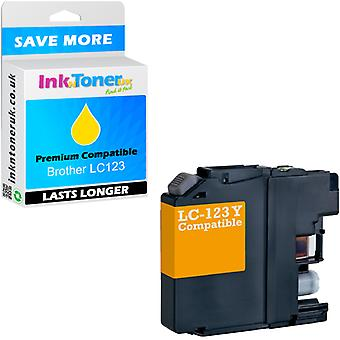 Compatible Brother LC123 Yellow LC123Y Ink Cartridge pour MFC-J6520DW