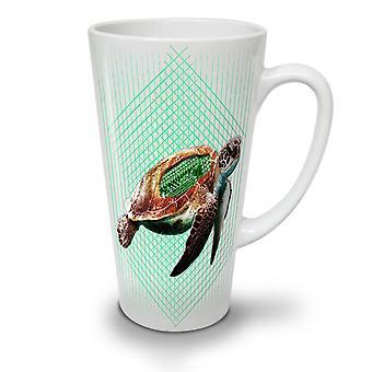 Tartaruga de mar ProGammer novo chá branco café cerâmica latte caneca 12 oz | Wellcoda