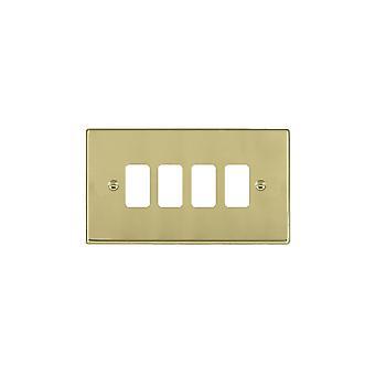 Hamilton Litestat Hartland Polished Brass 4g Apert Gridfix Plate+Grid