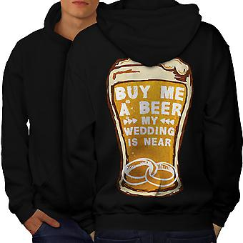Beer Wedding Party Men BlackHoodie Back | Wellcoda
