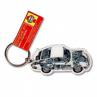 Official Haynes Porsche 911 Car Metal Keyring
