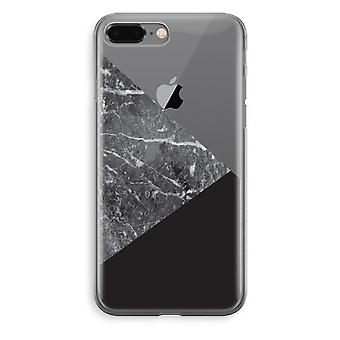 iPhone 8 Plus Transparant Fall (Soft) - Marmor-Kombination
