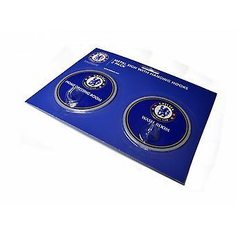 Chelsea FC officiella fotboll Robe krok tecken (förpackning med 2)