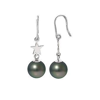 Dinglande stjärna örhängen pärlor av Tahiti och Silver 925/1000