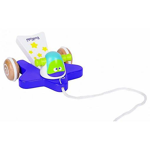 Boikido Comet Wooden Pull Along Space Toy for 12m+
